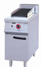 JZH-RHA Narrow Gas Char Grill on Cabinet Lava Rock 400mm W