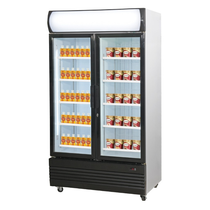 Double Door Upright Glass Door Combined Fridge & Freezer LG-1000GEF