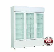 Three Glass Door Colourbond Upright Drink Fridge - LG-1203GE