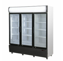 LG-1500GEF Triple Door Upright Glass Door Combined Fridge & Freezer 1461Lt 1800mm W