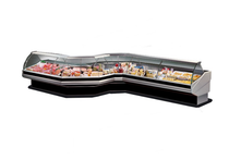 PAN1500 Curved front glass deli display 1540mm Width