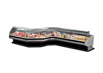 PAN2000 - Curved front glass deli display 2020x1140x1260