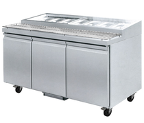 PWB200 Three door DELUXE Pizza Prep Bench