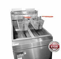 RC400TE - Superfast Natural Gas Tube Twin Vat Fryer 533mm W x 769 D x 1195 H
