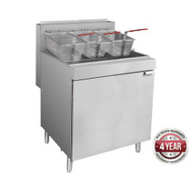 RC500E Superfast Natural Gas Tube Fryer Oil Capacity  37 Litre