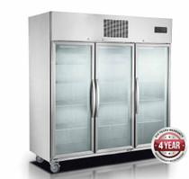 SUFG1500 Three Door Upright Display Freezer 1500 Litres 1835mm Width