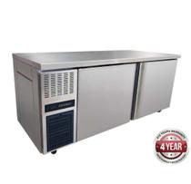 TS1800TN Stainless Steel Large Double Door Workbench Fridge 319Ltr