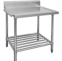 WBBD7-0600L/A All Stainless Steel Dishwasher Bench Left Outlet 600mm Width