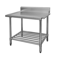 WBBD7-1500R/A All Stainless Steel Dishwasher Bench Right Outlet 1500mm Width