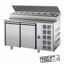 Mastercool 2 Door Undercounter Pizza/Salad Prep Fridge TF02MIDGNSK