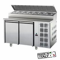 Mastercool 2 Door Undercounter Pizza/Salad Prep Fridge TF02MIDGNSK