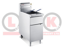 LKKGF4 LKK Single Tank Gas Fryer 25Ltr Oil Capacity