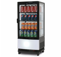 CT0080G4BC Bromic Curved Glass 80L LED Countertop Beverage Chiller