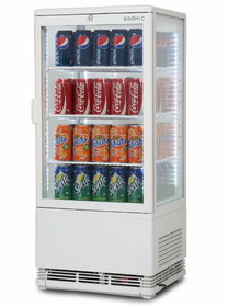 Flat Glass 78L LED Countertop Beverage Chiller - CT0080G4W