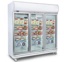 Flat Glass Door 1507L LED Upright Display Freezer - UF1500LF