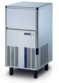 Self-Contained 37kg Solid Cube Ice Machine - IM0043SSC