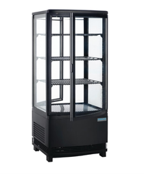 DP288-A Polar Display Fridge 86Ltr Black