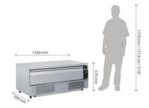 DA995-A Polar Single Drawer Counter Fridge Freezer 3xGN