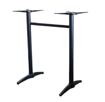Astoria Black Twin Bar Table Base - For 1200x800 tops