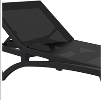 Pacific Sunlounger Replacement Skin - Black