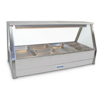 E23RD Roband Double Row Straight Glass Hot Food Display - 1030mm