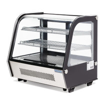 CD229-A Polar G-Series Countertop Food Display Fridge Black 120Ltr