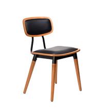 Felix Chair - Black Vinyl Seat - Lancaster Oak - Black Frame