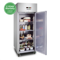 UC0650SD Bromic Upright Storage Fridge Gastronorm Stainless Steel 650L