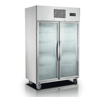 SUFG1000 Double Door Display Freezer 1000 Litre 1220mm Width