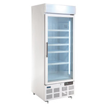 GH506-A Polar G-Series Upright Display Freezer White 412Ltr