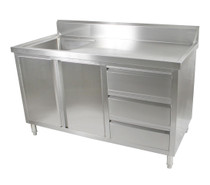 SC-6-1500L-H Cabinet with Left Sink 1500mm Width