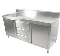 SC-6-2100L-H Cabinet with Left Sink 2100mm Width
