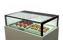 DS1500V White Marble Chocolate Display with Storage