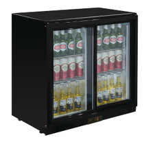 GL010-A Polar G-Series Under Counter Back Bar Cooler with Sliding Doors 198Ltr