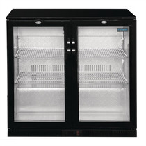 GL002-A Polar G-Series Counter Back Bar Cooler with Hinged Doors 208Ltr