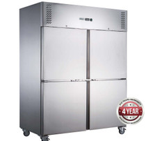 XURC1410S2V FED-X S/S Four Door Upright Fridge Net Capacity 1410L 1480mm Width