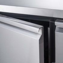 XUB7C13S2V FED-X S/S Two Door Bench Fridge Net Capacity 282L 1360mm Width