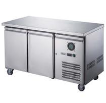 XUB7F13S2V FED-X S/S Two Door Bench Freezer Net Capacity: 282Ltr 1360mm Width
