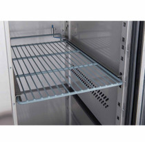 XUB7F13S2V FED-X S/S Two Door Bench Freezer Net Capacity: 282Ltr 1360mm Width