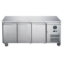 XUB7F18S3V FED-X S/S Three Door Bench Freezer 417 Lt 1795mm Width