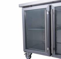 FED-X Two Glass Door Bench Fridge Net Capacity 282Ltr 1360mm Width - XUB7C13G2V