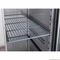 XUB7C18G3V FED-X Three Glass Door Bench Fridge 417Ltr  1795mm Width