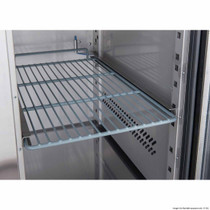 XUB7C22G4V FED-X Four Glass Door Bench Fridge 553L 2230mm Width