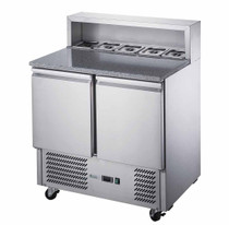 FED-X Two Door Salad Prep Fridge with Marble Top Net Capacity: 240L 903mm Width - XGNS900E