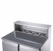 XGNS900E FED-X Two Door Salad Prep Fridge with Marble Top Net Capacity: 240L 903mm Width