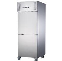 XURF600S1V FED-X S/S Two Door Upright Freezer 680mm W x 810 D x 2000 H