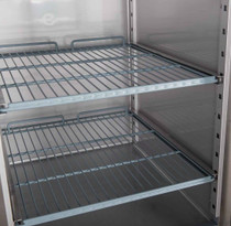 XURF1200G2V FED-X S/S Two Full Glass Door Upright Freezer 1200Ltr