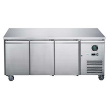 XUB6C18S3V FED-X S/S Three Door Bench Fridge 339Ltr