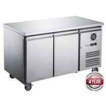 XUB6F13S2V FED-X S/S Two Door Bench Freezer 228Ltr 1360mm Width