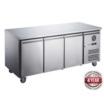 XUB6F18S3V FED-X S/S Three Door Bench Freezer 339Ltr 1795mm Width